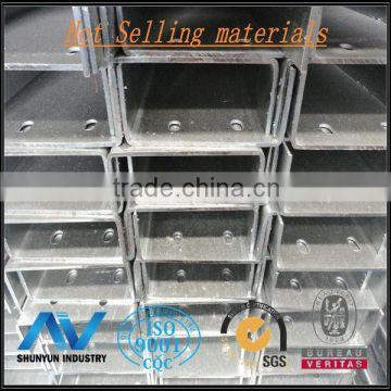Galvanized Zinc C Channel  steel frame c channel steel Z80 with hole  process from shanghai China
