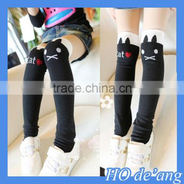 HOGIFT child cotton Knee-high socks,Half socks for students,wholesale cat pattern Thigh stockings