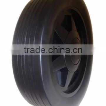 8/10 inch plastic wheel for garden cart, hand truck, trolley, trash bin