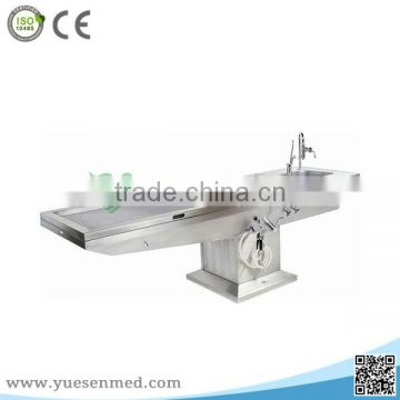 Stainless Steel Medical funeral mortuary autopsy table