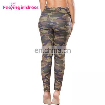 Custom Hot Sale Fashion Ladies Camouflage High Waist Soft Push Up Leggings