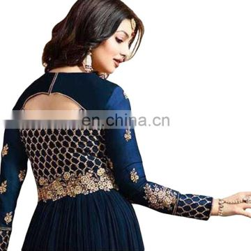 Women's Attractive Party Wear Semi Stitched Anarkali Suits With Heavy Embroidery 2017