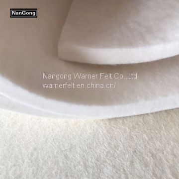 100% nature white wool felt manufacture(info@chinafelt.com)