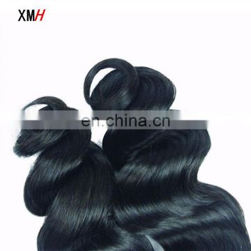 black virgin unprocessed Loose Wave hair Bundles for Women
