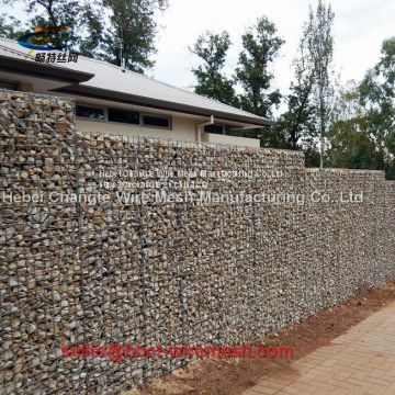 Retaining Wall Welded Steel Wire Mesh Gabion Box / Welded Gabion Basket