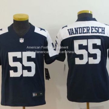 designer fashion af335 0e331 Dallas Cowboys #55 Vander Esch Kids Blue Jersey of Kids ...