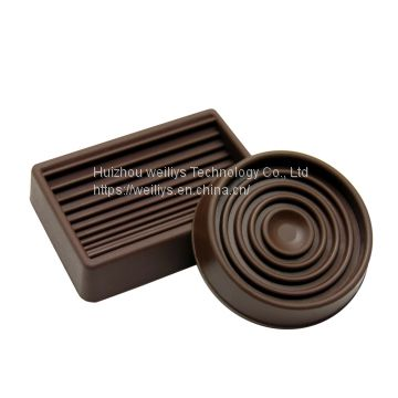 Square And Round Furniture Caster Protectors Non Slip Rubber Carpet Caster  Cups Of Rubber Caster Cup From China Suppliers   159859155