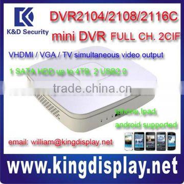 3g mobile dvr DVR5104H h264 dvr hd dvr hikvision dvr