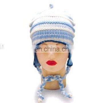 A/B thread blended with silver thread knitted hat