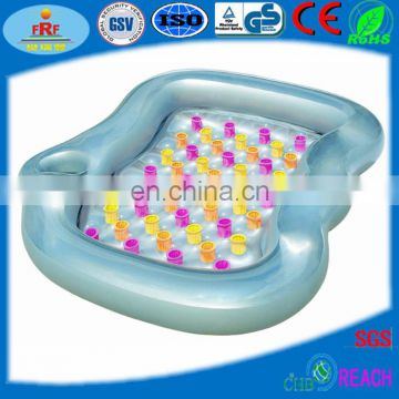 Double Floating Lounger With Beverage Holder