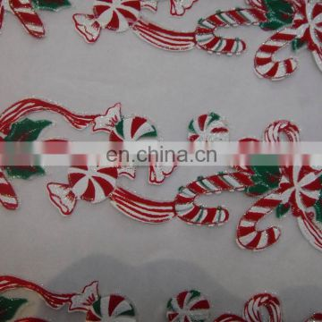 Polyester New pattern printed chiristmas decoration organza fabric