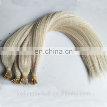 Wholesale 100% Human I Tip Hair 8A Blonde #60 Keratin Pre-Bonded I Tip Hair Extensions For High-End Market