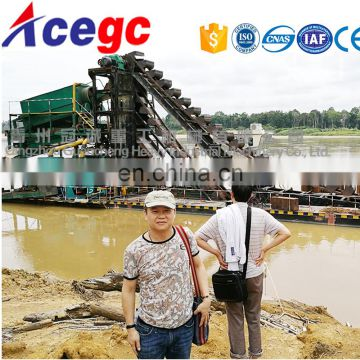 Competitive price Bucket chain sand/gold dredging boat for sale