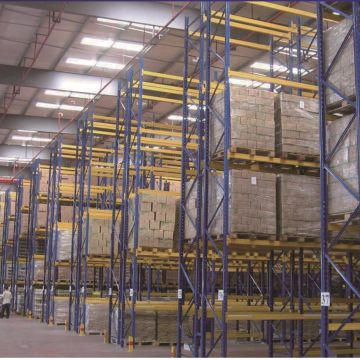 Flow Rack Metal Shelving System Used In Logistics