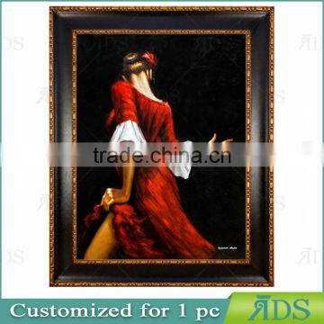 Dancing Girl Lady Oil Painting