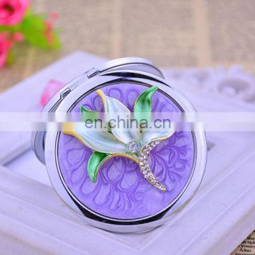 Round and square hand cosmetic mirror foldable Metal Vanity Mirror