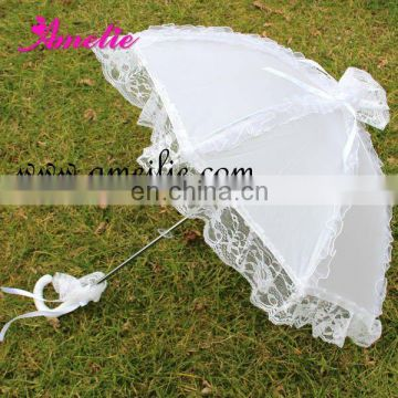 Pearl Fabric Lovely Children umbrellas with Lace frills