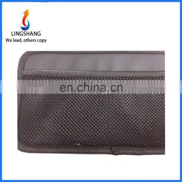 Wholesale car mesh organizer storage bag car mesh cloth storage bag