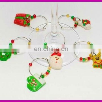 promotional fashion Christmas wine charms beautiful for various bottles