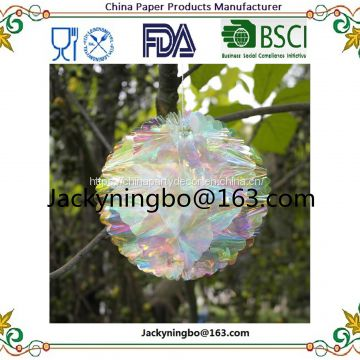 Full holographic Honeycomb Set Eurolock header card with opp bag package Honeycomb Ball and Pom Pom Party Decorations