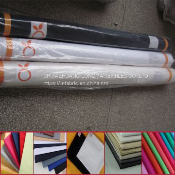 T/C 90/10 white poplin fabric 45x45 110x76 186TH for shirt lining China supplier double folded packing for african market