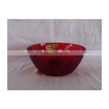 hand painted large arc glass bowls