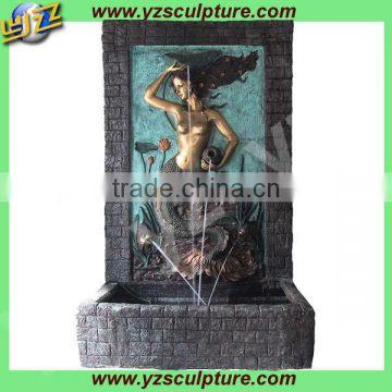 outdoor life size mermaid antique brass fountain for sale