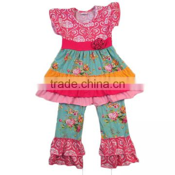 baby clothing wholesale spring design flutter sleeve outfits baby clothes 2017 baby clothing sets