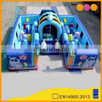 AOQI pretty big inflatable obstacle funcity for kids