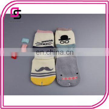 2017 Hot selling good quality cotton baby printed socks