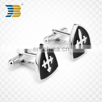 custom stainless steel enamel cufflink with logo