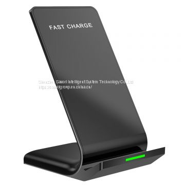 2018 newest design 9V 10W Quick Wireless Charging Stand QI mobile charger stand