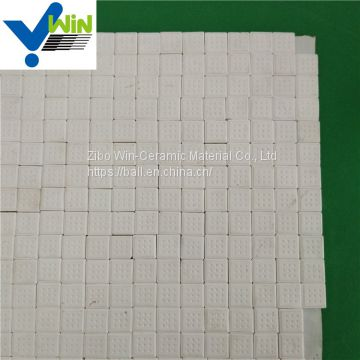 92% Square alumina ceramic mosaic sheet tile with high purity