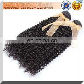Wholesale Curly Weave 7A Raw Unprocessed Pure Virgin Indian Remy Human Hair Weft