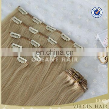 Full Head drouble drawn thick clip in hair 200gram kinky hair clip in hair afro hair clip in extensions
