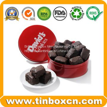 Cylindrical Chocolate Tin Boxes with Handle
