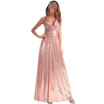 One Piece Dress For Women Ladies Dress Vintage Sequin Long Evening Dress