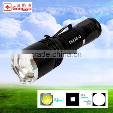 GOREAD Y37 high Bright T6 LED focusable dimming 1000lum high power flashlight