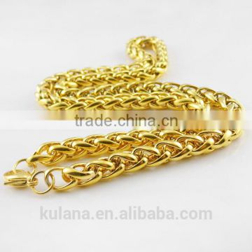 5-10mm Stainless Steel Necklace Round Chain Gold Necklace Designs in 3 grams 91804