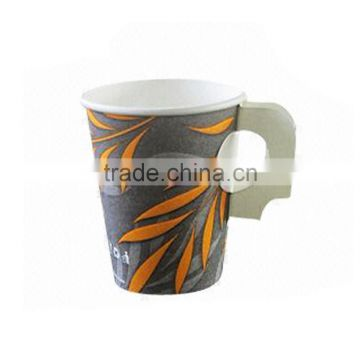 China High Quali ty Hot Drink Paper Cup With Handle