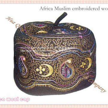 Africa embroidered wool cap / Muslim wool cap