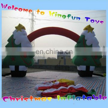 Christmas inflatabe gift tree arches