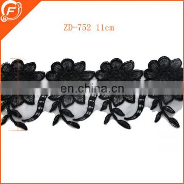 black guipure lace with beads for wedding dress