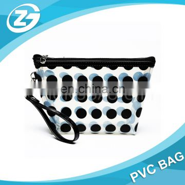 High quality Hand Hole & Snap Button Toiletry Bag PVC Transparent Bags