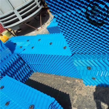 Blue,white Oblique Wave Film Fill Cooling Tower Cooling Tower Fill