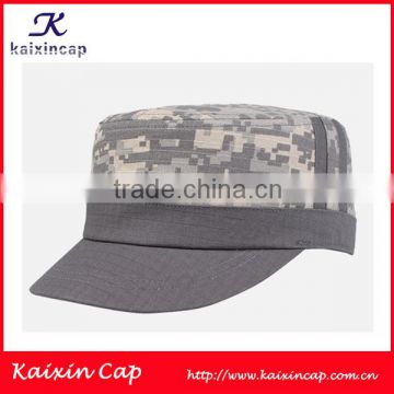 Oem Grey O Flat Top Cap Military Hat With Custom Print Or. Promotional ... 3cd0d0bc51cc