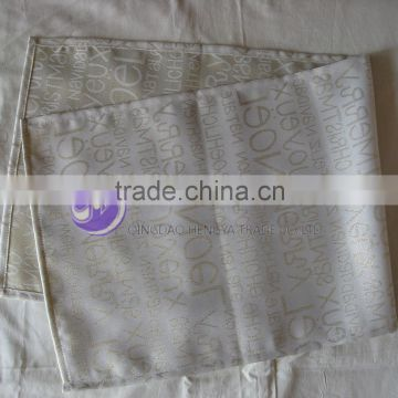 China Hot Sell Latest Design Satin Sequins Table Runner