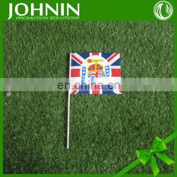 2016 new design customized logo hand waving mini flag