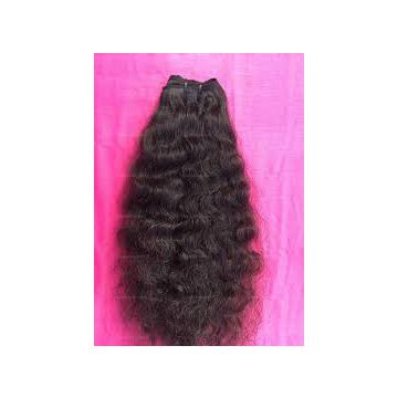 Machine Weft Indian Machine Weft Curly Human Hair Grade 6A