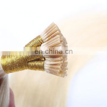 New Premium Quality 100% indian Virgin Remy Human Hair stick i tip hair extensions